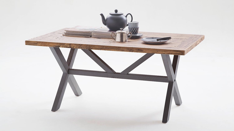 couchtisch byron kiefer massiv antik grau vintage braun 120. Black Bedroom Furniture Sets. Home Design Ideas