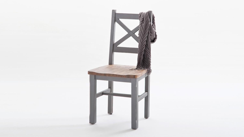 stuhl 2er set byron kiefer massiv antik grau vintage braun. Black Bedroom Furniture Sets. Home Design Ideas