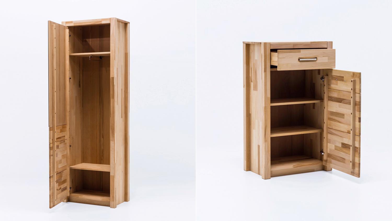 garderobenset fenja in kernbuche keilverzinkt massiv. Black Bedroom Furniture Sets. Home Design Ideas