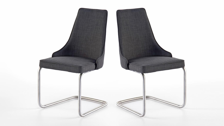 schwingstuhl 2er set elara stuhl stuhlsystem grau feingewebe. Black Bedroom Furniture Sets. Home Design Ideas