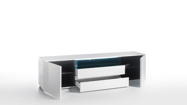 wohnwand 2 vicenza anbauwand wei hochglanz lackiert wenge. Black Bedroom Furniture Sets. Home Design Ideas