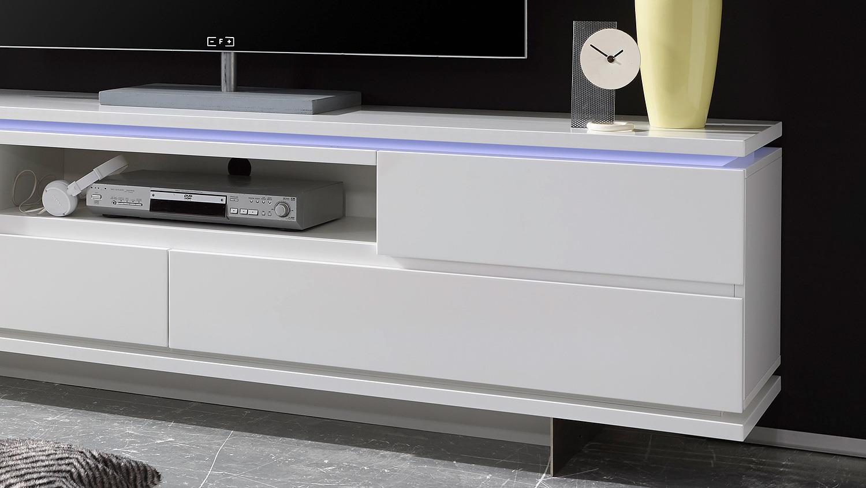 Lowboard led  Board BALIN Lowboard weiß matt lackiert mit LED