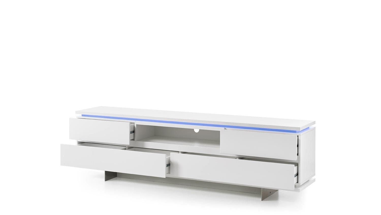 tv board balin lowboard wei matt lackiert mit led. Black Bedroom Furniture Sets. Home Design Ideas