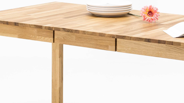 esstisch fabian tisch in wildeiche massiv ge lt ausziehbar. Black Bedroom Furniture Sets. Home Design Ideas