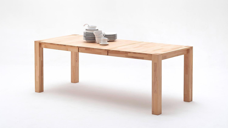 Esstisch ferdis tisch in kernbuche massiv ge lt ausziehbar for Massiv tisch ausziehbar
