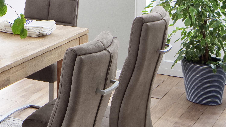 schwingstuhl salva 2 2er set stuhl sand luxus komfort taschenfederkern. Black Bedroom Furniture Sets. Home Design Ideas