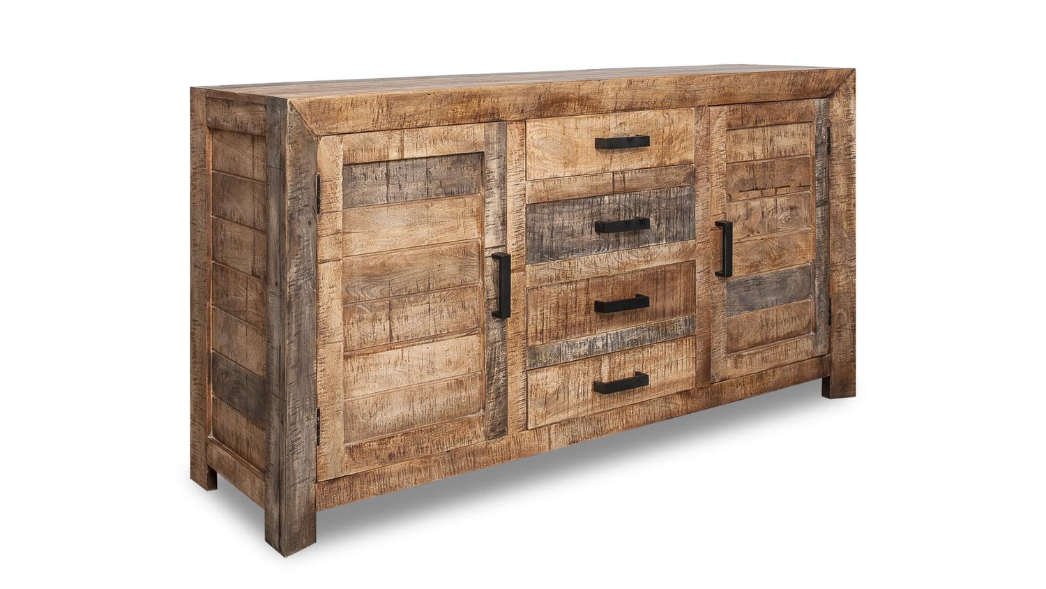 sideboard wayland anrichte kommode aus mango holz massiv mehrfarbig. Black Bedroom Furniture Sets. Home Design Ideas