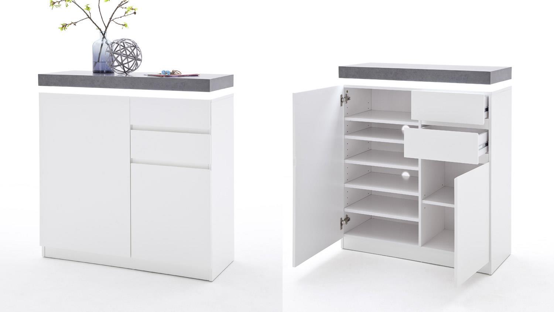 schuhschrank wei matt smartpersoneelsdossier. Black Bedroom Furniture Sets. Home Design Ideas