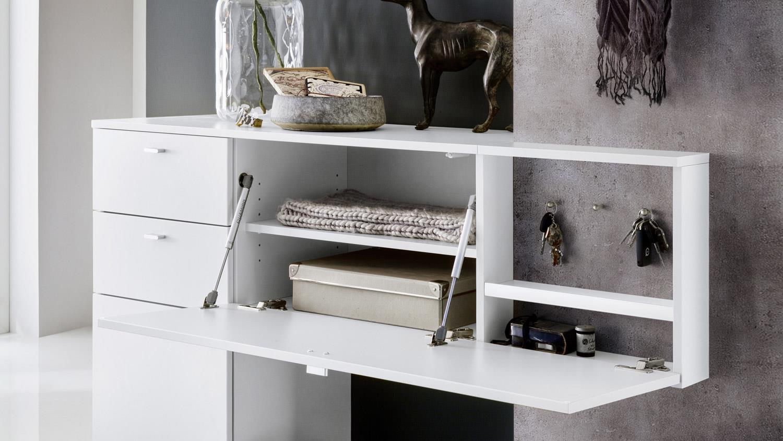 garderobe zara 2 in wei melamin und betonoptik. Black Bedroom Furniture Sets. Home Design Ideas