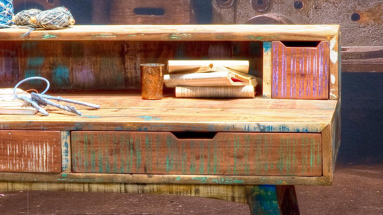 schreibtisch malm recycle massivholz used color look. Black Bedroom Furniture Sets. Home Design Ideas