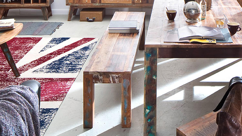 bank malm recycle massivholz used color look lackiert. Black Bedroom Furniture Sets. Home Design Ideas