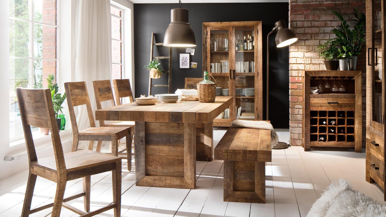weinregal wayland weinschrank aus mango holz teilmassiv. Black Bedroom Furniture Sets. Home Design Ideas