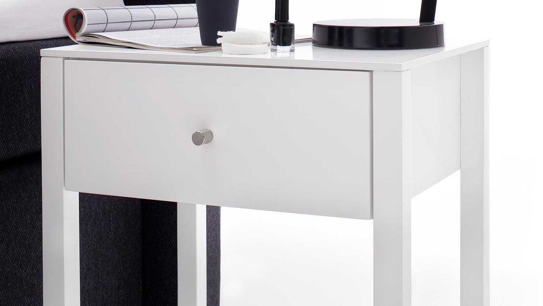 nachtkommode nolan 8 kleine kommode in wei matt lack. Black Bedroom Furniture Sets. Home Design Ideas