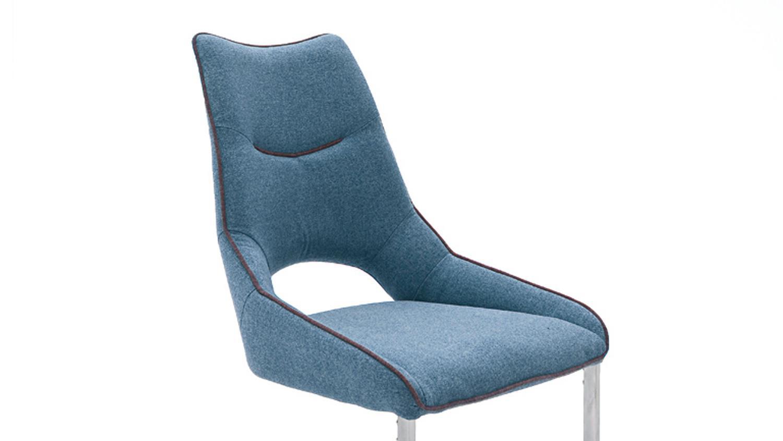 Schwingstuhl ALDRINA 2er Set Stuhl Freischwinger in Stoff