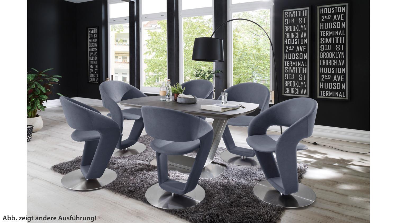 Stuhl Firona 2er Set Esszimmerstuhl Kuchenstuhl Taupe 360 Drehbar