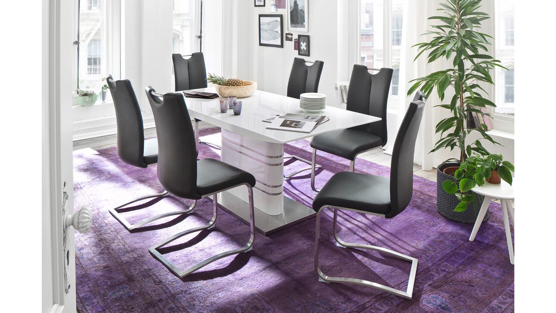 Schwingstuhl artos 1 2er set stuhl freischwinger for Schwingstuhl schwarz
