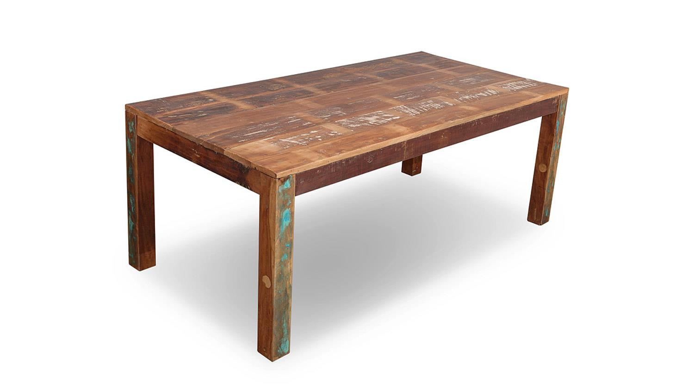 Essgruppe Malmo Massivholz Altholz Used Look Tisch Bank Stuhle