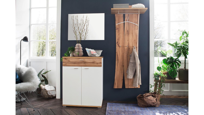 garderobe 3 nia komplettset flurm bel wei eiche melamin inkl spiegel. Black Bedroom Furniture Sets. Home Design Ideas