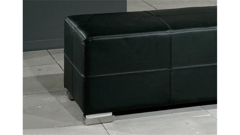 sitzbank homer bank in schwarz und chrom 120 cm breit. Black Bedroom Furniture Sets. Home Design Ideas