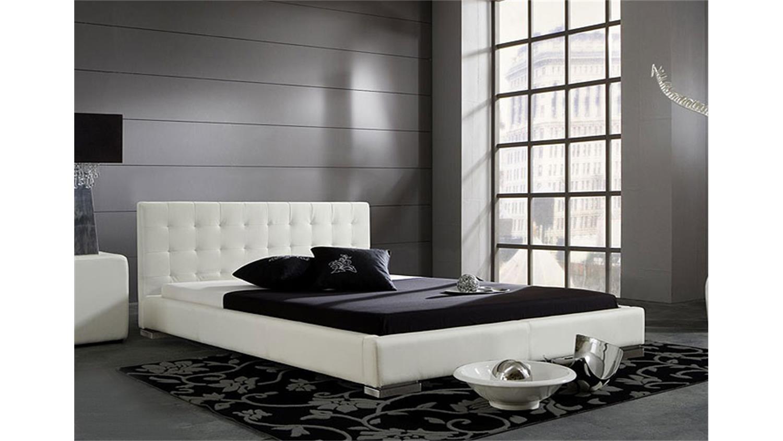 polsterbett cello in schwarz und f en in chrom 140x200. Black Bedroom Furniture Sets. Home Design Ideas