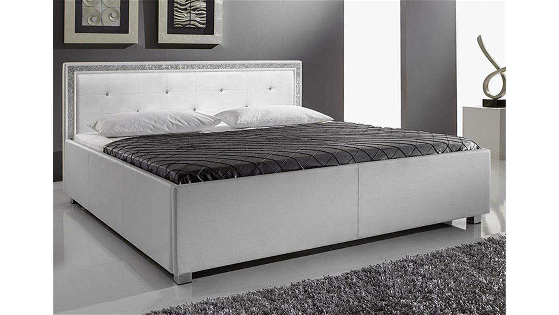 myla polsterbett schwarz mit strass 180x200 cm. Black Bedroom Furniture Sets. Home Design Ideas