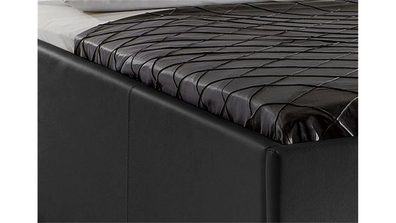 polsterbett myla iii bett in schwarz gesteppt 140x200 cm. Black Bedroom Furniture Sets. Home Design Ideas