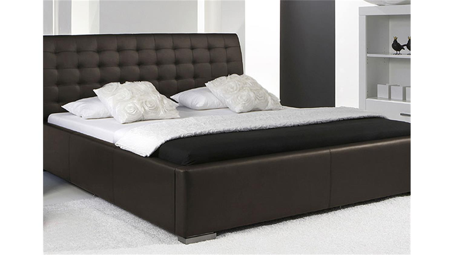 polsterbett sabi ii bett in braun mit komforth he 180x200. Black Bedroom Furniture Sets. Home Design Ideas