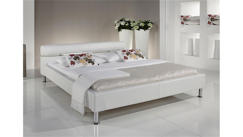 polsterbett manelli designer bett in wei 180x200 cm. Black Bedroom Furniture Sets. Home Design Ideas