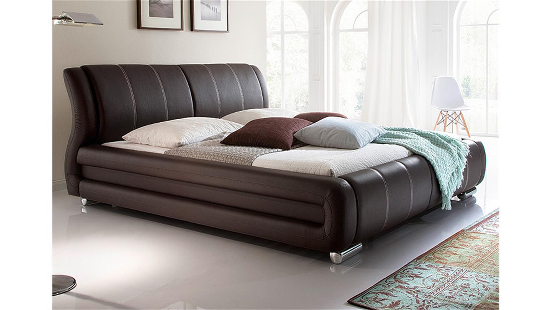 polsterbett bolzano in braun 180x200 cm n hte beige. Black Bedroom Furniture Sets. Home Design Ideas