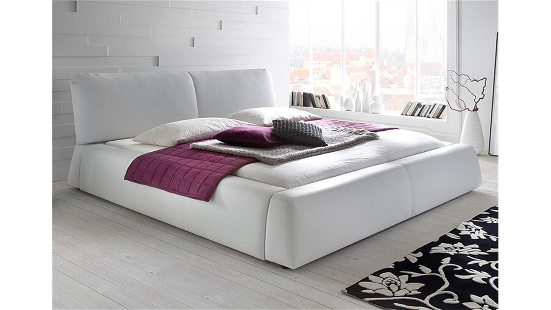 polsterbett cassini bett in lederlook wei 180x200 cm. Black Bedroom Furniture Sets. Home Design Ideas