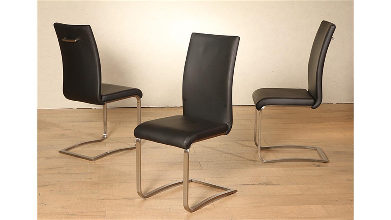 schwingstuhl lilly 4er set schwarz und edelstahl. Black Bedroom Furniture Sets. Home Design Ideas