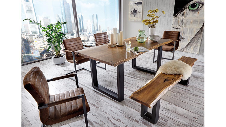 Esstisch Stühle Mit Armlehne parzival 6er set antik braun eisen grau armlehne