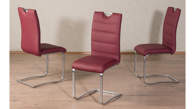 schwingstuhl nicole 4er set esszimmerstuhl bordeaux. Black Bedroom Furniture Sets. Home Design Ideas