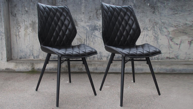 2er set polsterstuhl stockholm schwarz vintage pu polster. Black Bedroom Furniture Sets. Home Design Ideas