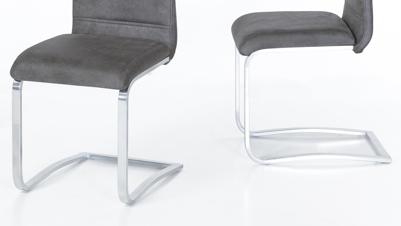 schwingstuhl 2er set nadine microfaser antik anthrazit. Black Bedroom Furniture Sets. Home Design Ideas