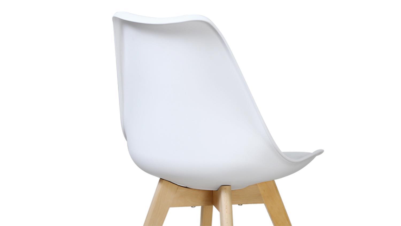 Esszimmerstuhl Stavanger 4er Set In Weiß Und Buche Massiv