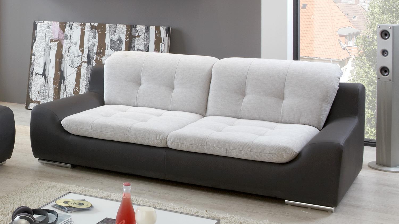 Sofagarnitur 3-2 SPIKE Sofa in hellgrau und anthrazit