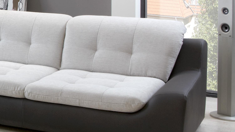 Sofagarnitur 3 2 spike sofa in hellgrau und anthrazit for Sofa hellgrau