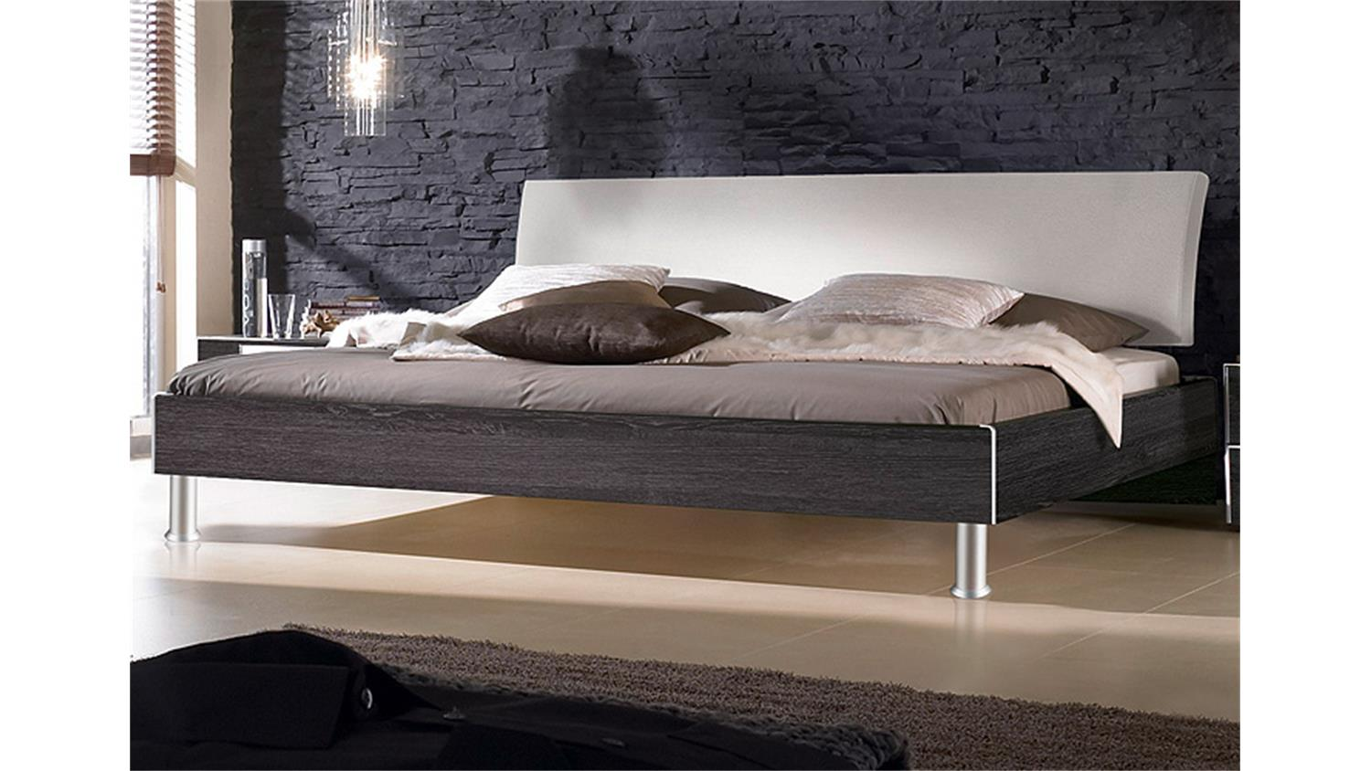 bett fargo von nolte mooreiche und kopfteil wei 200x200 cm. Black Bedroom Furniture Sets. Home Design Ideas