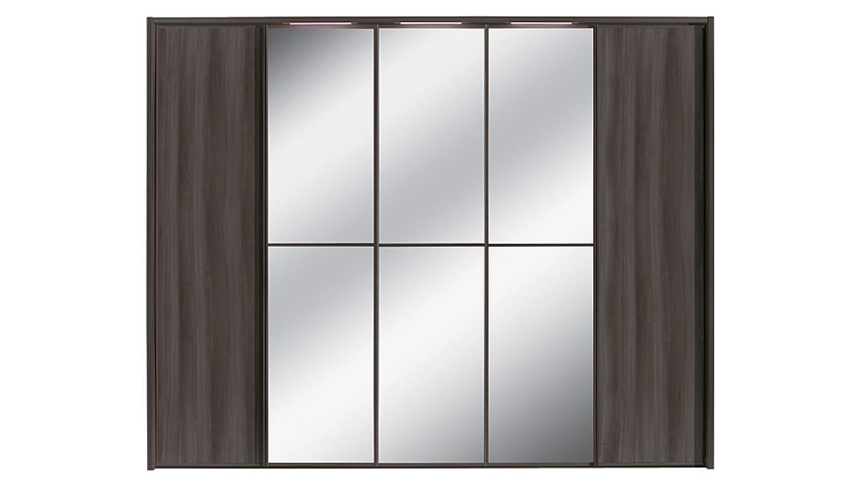 Kleiderschrank attraction von nolte mooreiche spiegel b 300 for Kleiderschrank nolte