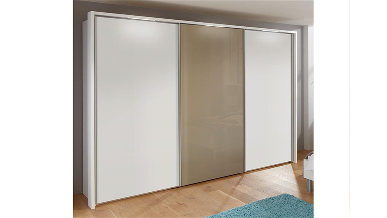 kleiderschrank marcato von nolte wei saharaglas b 270 cm. Black Bedroom Furniture Sets. Home Design Ideas