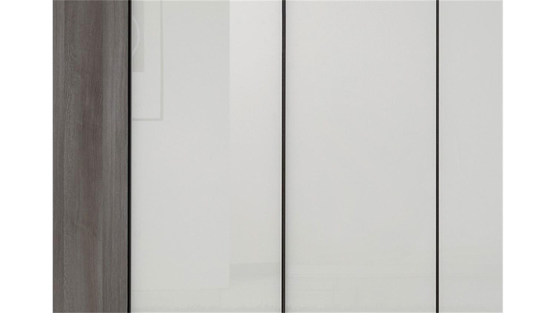 Kleiderschrank marcato von nolte mooreiche wei glas b 250 cm for Kleiderschrank nolte