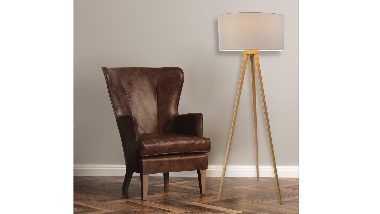 stehleuchte stabilo standleuchte aus escheholz und schirm wei 1 flg. Black Bedroom Furniture Sets. Home Design Ideas