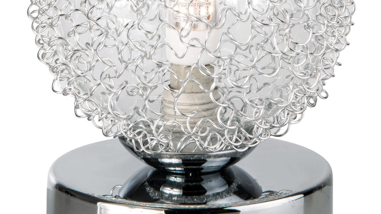 led tischleuchte ryder tischlampe chrom glaskugel. Black Bedroom Furniture Sets. Home Design Ideas