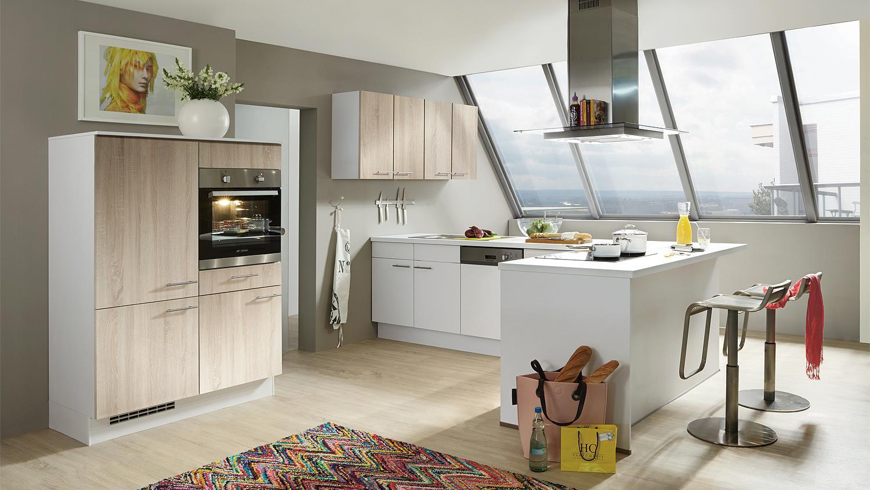 ... offen. Kombinieren Sie die Farben dieser Küche wie Sie möchten