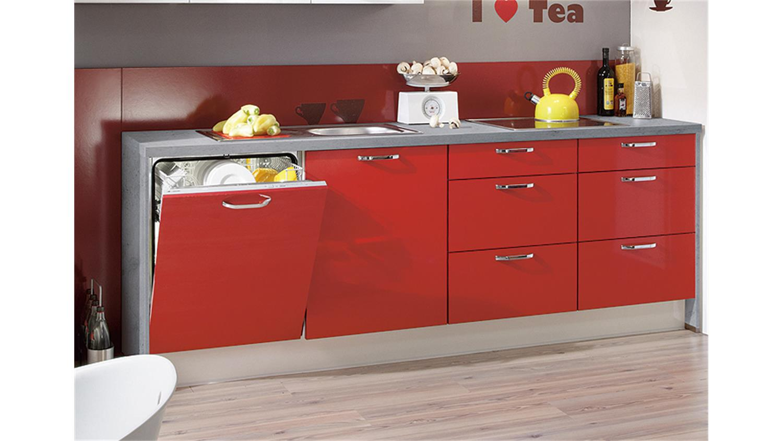 Nobilia Küchenzeile Programm GLOSS inkl. E-Geräte - 551