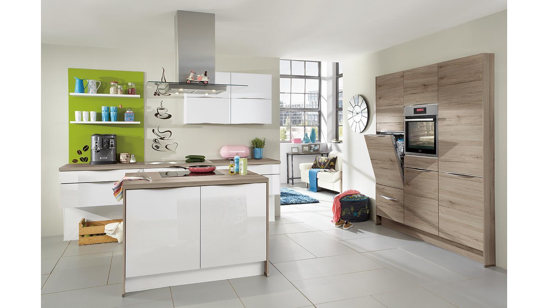 nobilia einbauk che k che mit insel und auswahl inkl e. Black Bedroom Furniture Sets. Home Design Ideas
