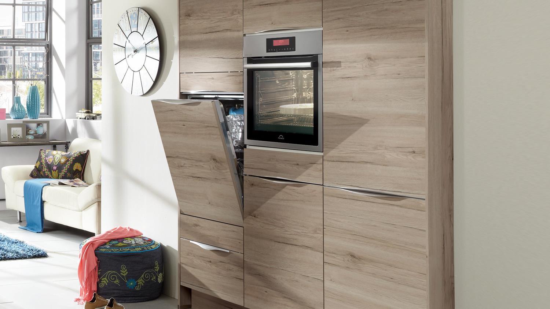 Nobilia Einbauküche Küche mit Insel und Auswahl inkl. E-Geräte - 349