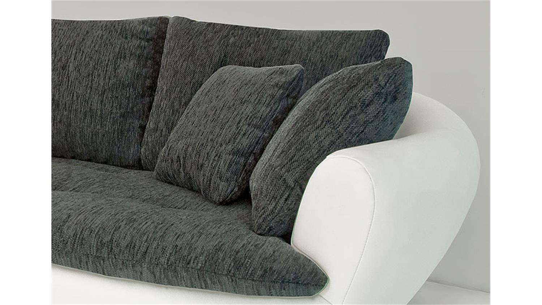 sofa solterra polsterm bel 3er sofa couch wei und schwarz. Black Bedroom Furniture Sets. Home Design Ideas