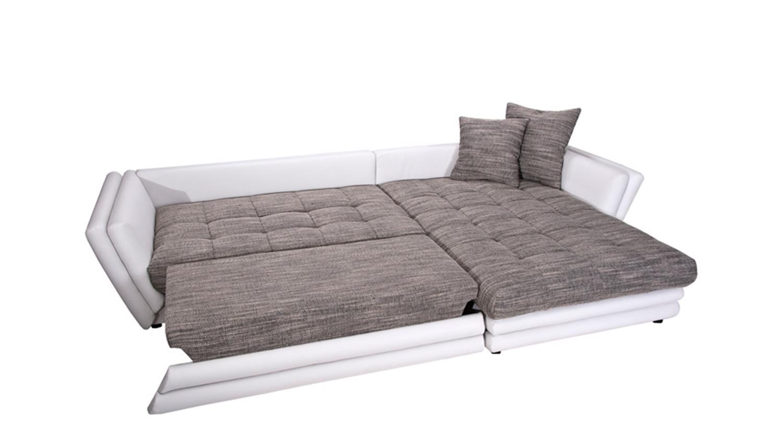 ecksofa neptun wei grau mit bettfunktion rechts. Black Bedroom Furniture Sets. Home Design Ideas